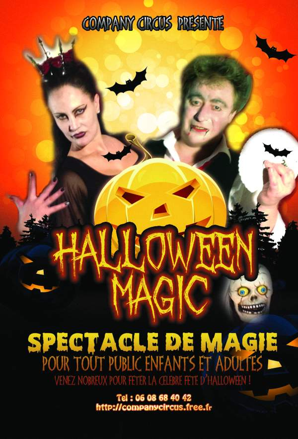animation halloween affiche du spectacle